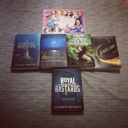 my book haul, I got royal bastards from a friend.